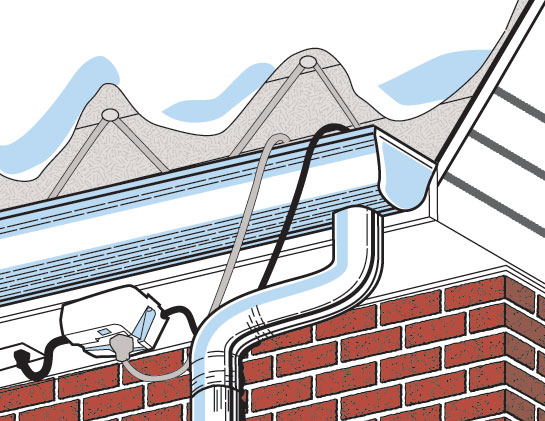 House With Roof Heating Cables : How to prevent and get rid of ice dams on your roof