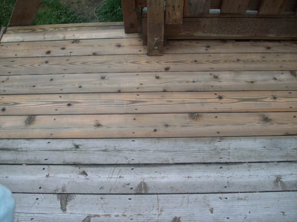 Wood Decking Weathered Wood Decking