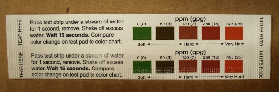 Free Hard water Test Strip courtesy of Morton salt available at LeVahn Brothers Plumbing and Hardware
