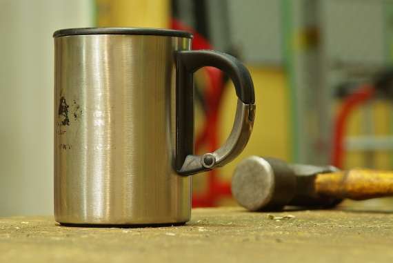 REI Stainless steel coffee mug