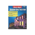Gas Leak detector Radon Test kit First Alert Easy radon test Cheap economical hardware store mail in EPA listed Lab test included