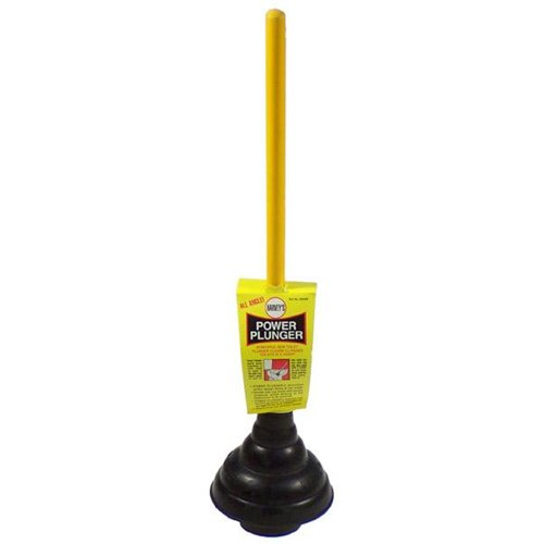 power plunger toilet clog plug removal unplug unclog clean out plumbing plumber flush how to